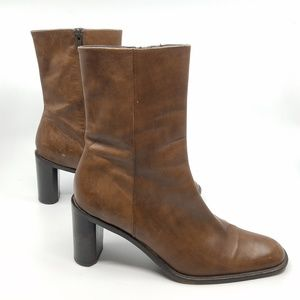 Banana Republic Leather 3/4 Boots - 8.5